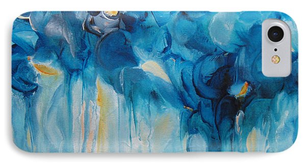 Falling Into Blue II IPhone Case by Elis Cooke