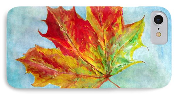 Falling Leaf - Painting IPhone Case