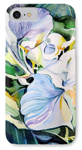 Falling Orchids Phone Case by Mindy Newman