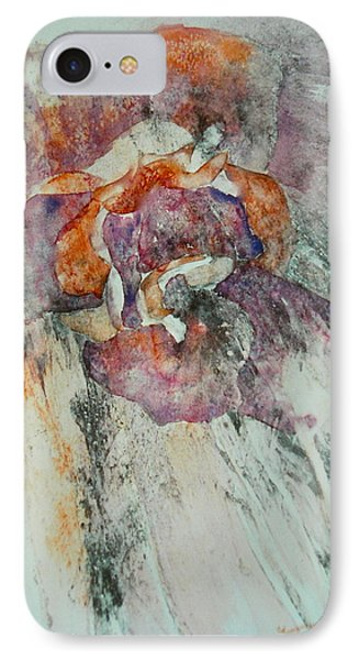 IPhone Case featuring the painting Falling Rose by Carolyn Rosenberger