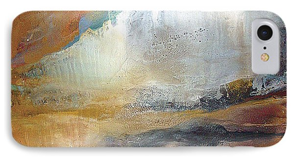 IPhone Case featuring the painting Falling Sky Ice Mountain by Carolyn Goodridge
