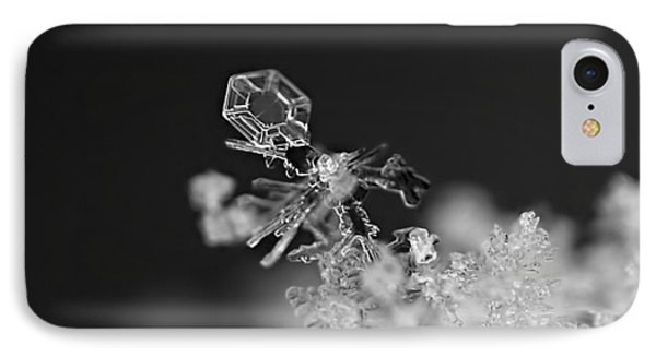 Falling Snowman IPhone Case by Rona Black