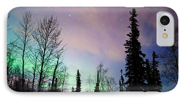 Falling Star And Aurora Phone Case by Ron Day