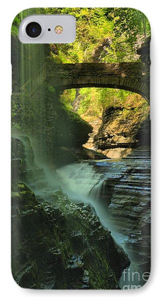 Falling Through The Watkins Glen Canopy IPhone Case by Adam Jewell