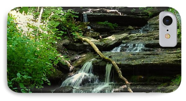 IPhone Case featuring the photograph Falling Water by Alan Lakin