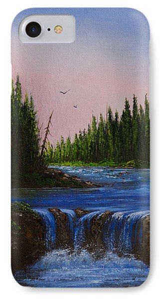 Falls At Rivers Bend IPhone Case by C Steele