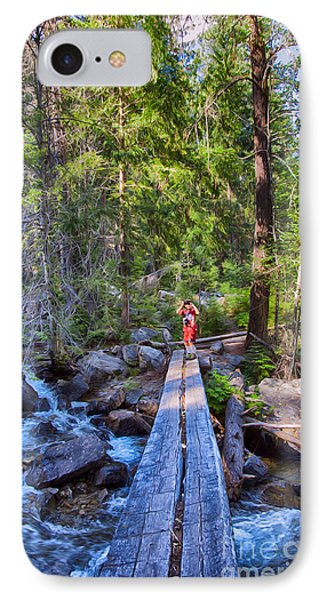 Falls Creek Footbridge IPhone Case by Omaste Witkowski