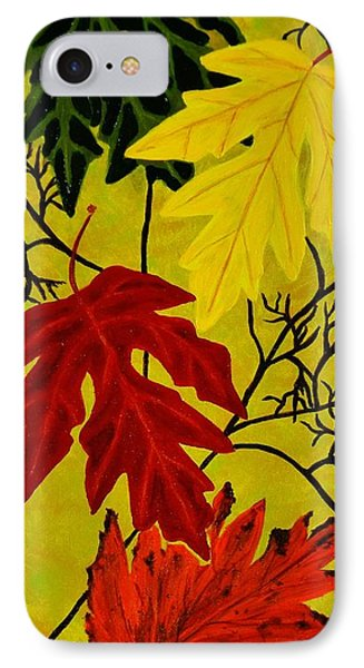 IPhone Case featuring the painting Fall's Gift Of Color by Celeste Manning