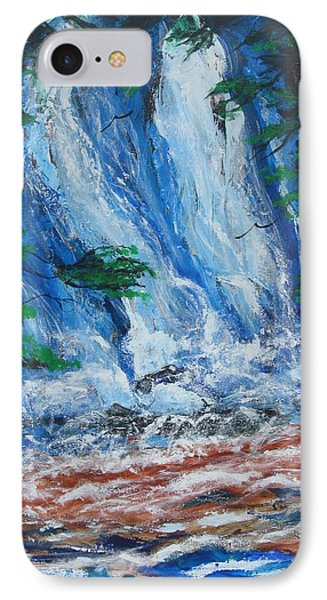 Waterfall In The Forest IPhone Case by Diane Pape