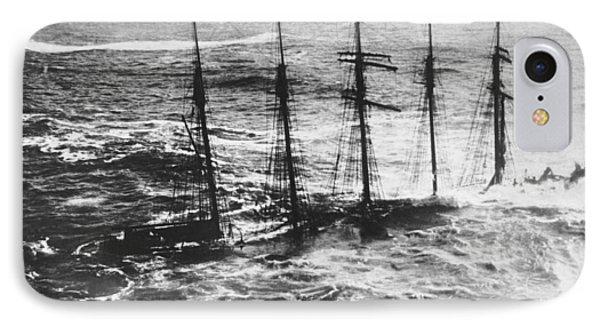Falmouth England Shipwreck IPhone Case