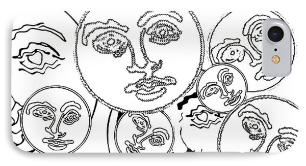 IPhone Case featuring the digital art Familiar Faces 2 by Christine Perry