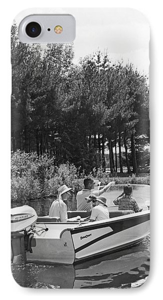 Family Boat Ride IPhone Case by Underwood Archives