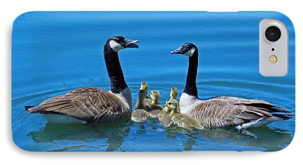 Family Canada Geese Phone Case by Jonathan Whichard
