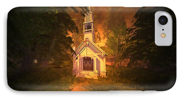 IPhone Case featuring the digital art Family Chapel by Kylie Sabra