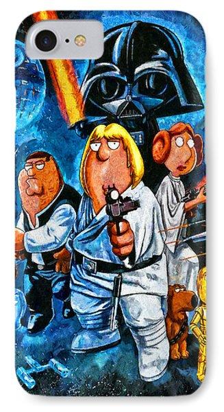 Family Guy Star Wars IPhone Case by Joe Misrasi