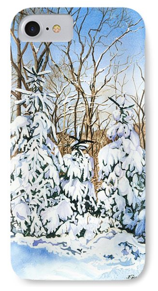 IPhone Case featuring the painting Family Of Four Trailside At 7 Springs by Barbara Jewell