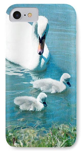 Family Of Swans At The Market Common IPhone Case by Vizual Studio
