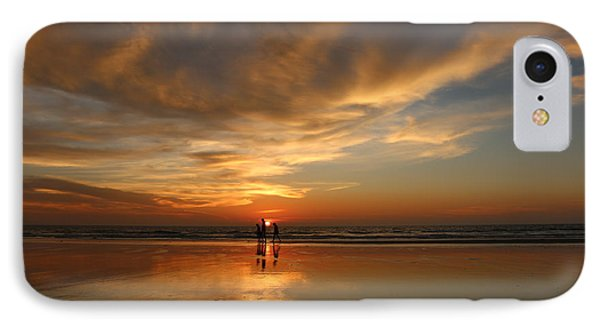 Family Reflections At Sunset - 2 IPhone Case by Christy Pooschke