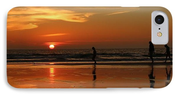 Family Reflections At Sunset - 5 IPhone Case by Christy Pooschke