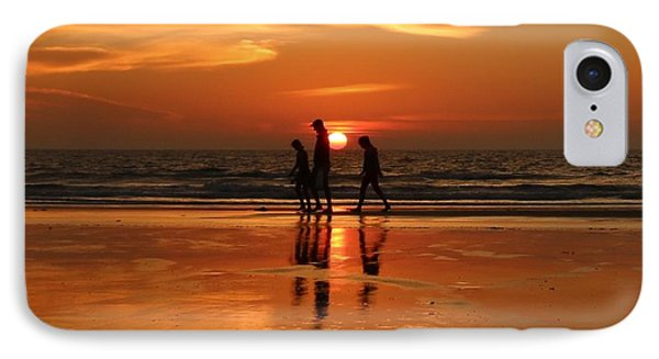 Family Reflections At Sunset - 1 IPhone Case by Christy Pooschke