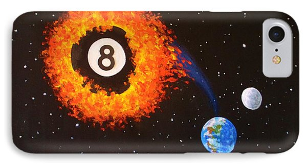 Faming Balls #2... 8 Ball IPhone Case