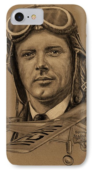 Famous Aviators Charles Lindbergh IPhone Case by Dale Jackson