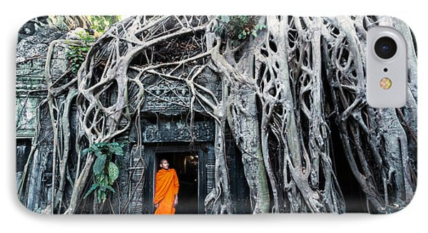 Famous Big Tree Inside Ta Phrom Temple - Angkor - Cambodia IPhone Case by Matteo Colombo