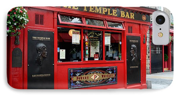Famous Temple Bar In Dublin IPhone Case by IPics Photography