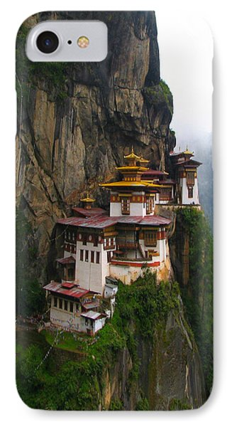Famous Tigers Nest Monastery Of Bhutan IPhone Case by Lanjee Chee