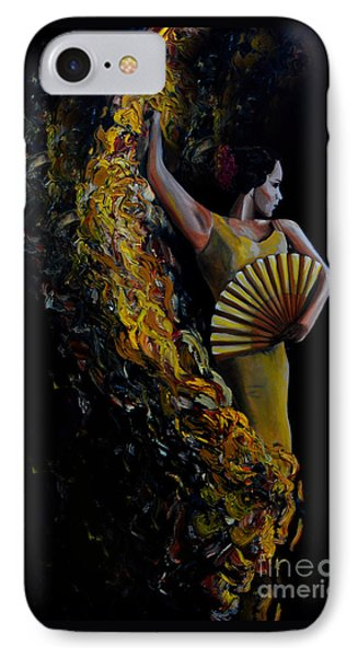 IPhone Case featuring the painting Fan Dance by Nancy Bradley
