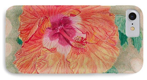 Fancy Hibiscus IPhone Case by Audrey Van Tassell