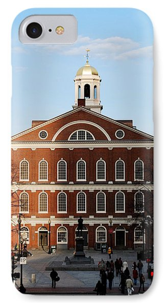 IPhone Case featuring the photograph Faneuil Hall At Sunset by Caroline Stella