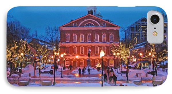Faneuil Hall Holiday- Boston Phone Case by Joann Vitali