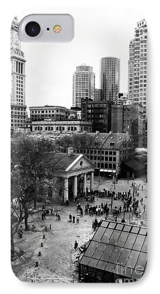 Faneuil Hall Marketplace IPhone Case by John Rizzuto