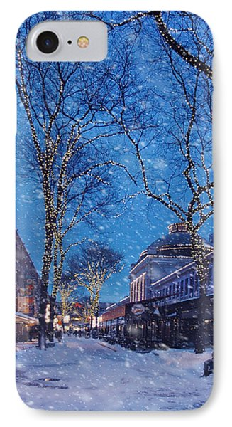 Faneuil Hall Winter Snow - Boston IPhone Case