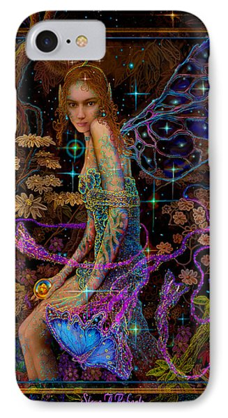 IPhone Case featuring the painting Fantasy Fairy Princess-angel Tarot Card by Steve Roberts