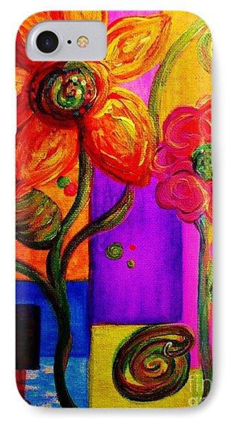 Fantasy Flowers Phone Case by Eloise Schneider