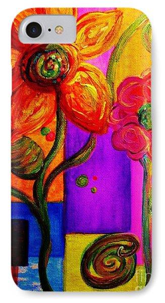 Fantasy Flowers IPhone Case by Eloise Schneider