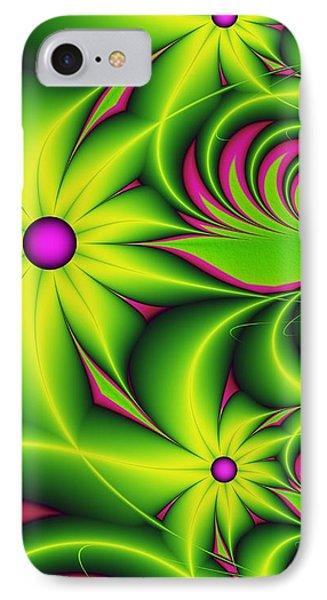 IPhone Case featuring the digital art Fantasy Flowers by Gabiw Art