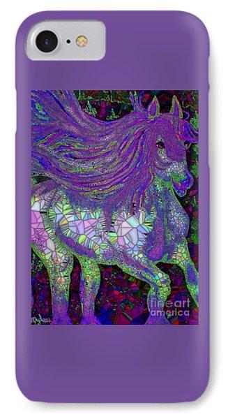Fantasy Horse Purple Mosaic IPhone Case by Saundra Myles