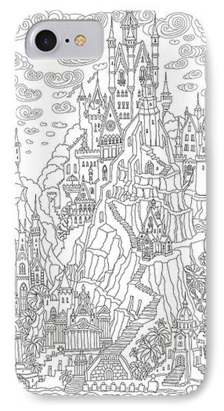T Shirts iPhone 7 Case - Fantasy Landscape. Fairy Tale Castle On by L. Kramer