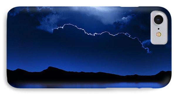Fantasy Moon And Clouds Over Water Phone Case by Johan Swanepoel
