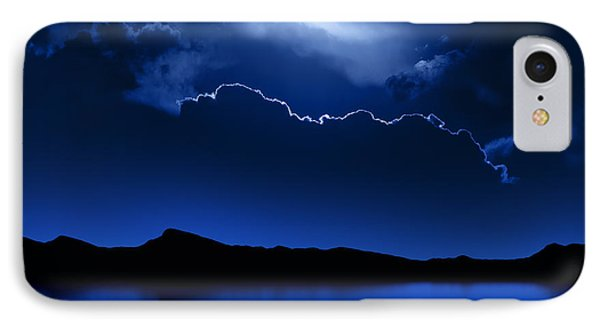 Fantasy Moon And Clouds Over Water IPhone Case by Johan Swanepoel