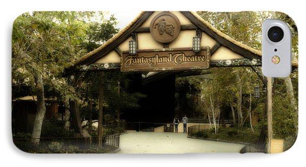 Fantasyland Theatre Signage Disneyland IPhone Case by Thomas Woolworth