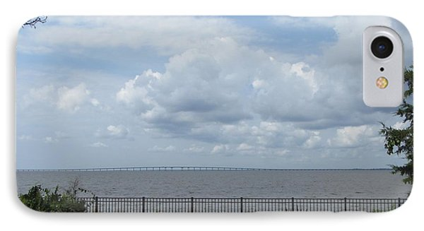 Far Away Bridge IPhone Case by Cathy Lindsey