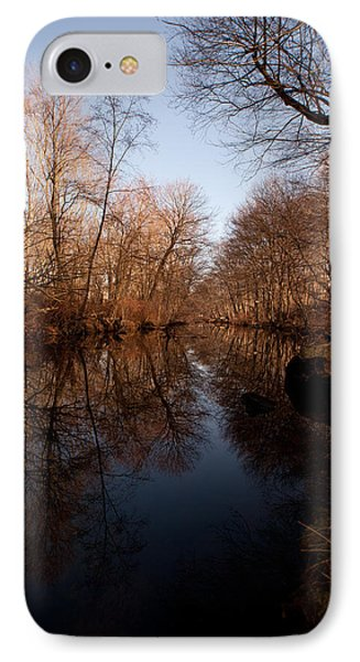 Far Mill River Reflects Phone Case by Karol Livote