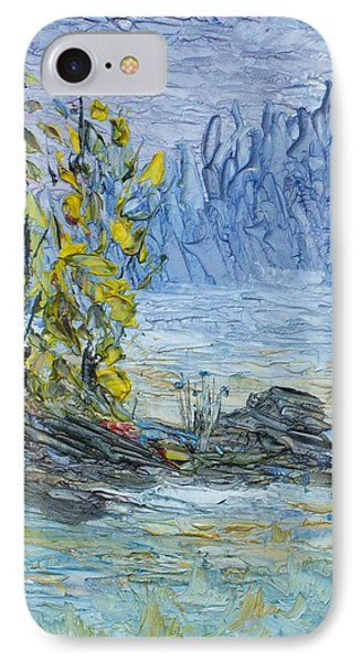 IPhone Case featuring the painting Far Off Woodland Lough Hyne. by Conor Murphy