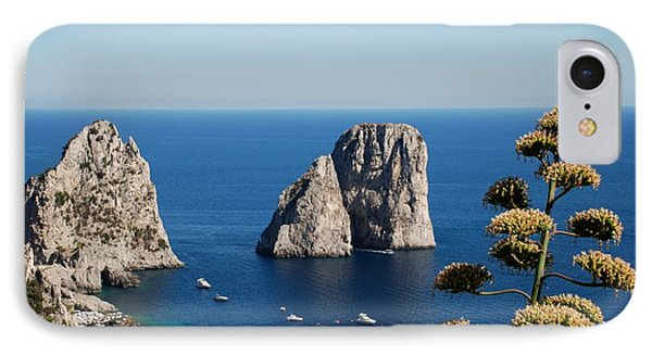 Faraglioni In Capri IPhone Case by Dany Lison