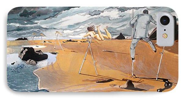IPhone Case featuring the painting Faraway Lejanias by Lazaro Hurtado