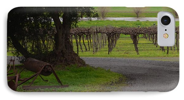 Farm And Vineyard IPhone Case by Cheryl Miller